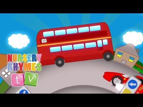 Big Red Bus - Nursery Rhymes TV. Toddler Kindergarten Preschool...