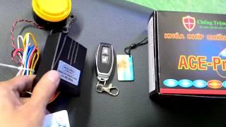 Khóa ACE PRO cao cấp thông minh , chống trộm cướp xe máy tuyệt đối .