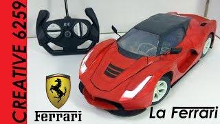 How To Make RC Ferrari Car || FERRARI LaFerrari ||DIY ||Cardboard car ||How to make Electric toy car