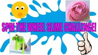 Spin The Wheel Slime Challenge!