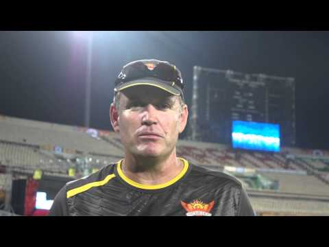 SunRisers Hyderabad Coach Tom Moody speaks from the Rajiv Gandhi International Stadium!