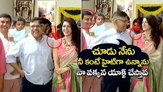 Producer Allu Aravind Making Hillarious fun with Mehrene Pirzada at F2 Movie Launch | Filmylooks
