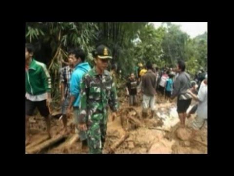 Officials: At least 43 dead in Indonesian floods, landslides