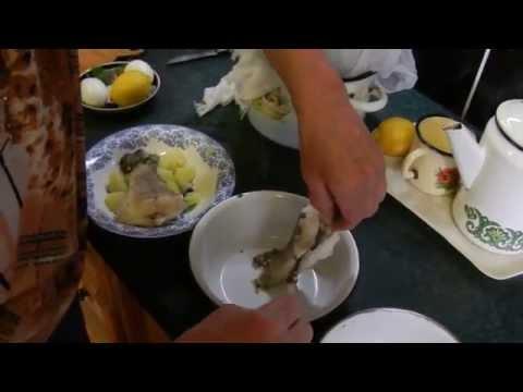 Заливное из ухи. Рыба заливная. Видео. Видео рецепты от бабки (Борисовны)