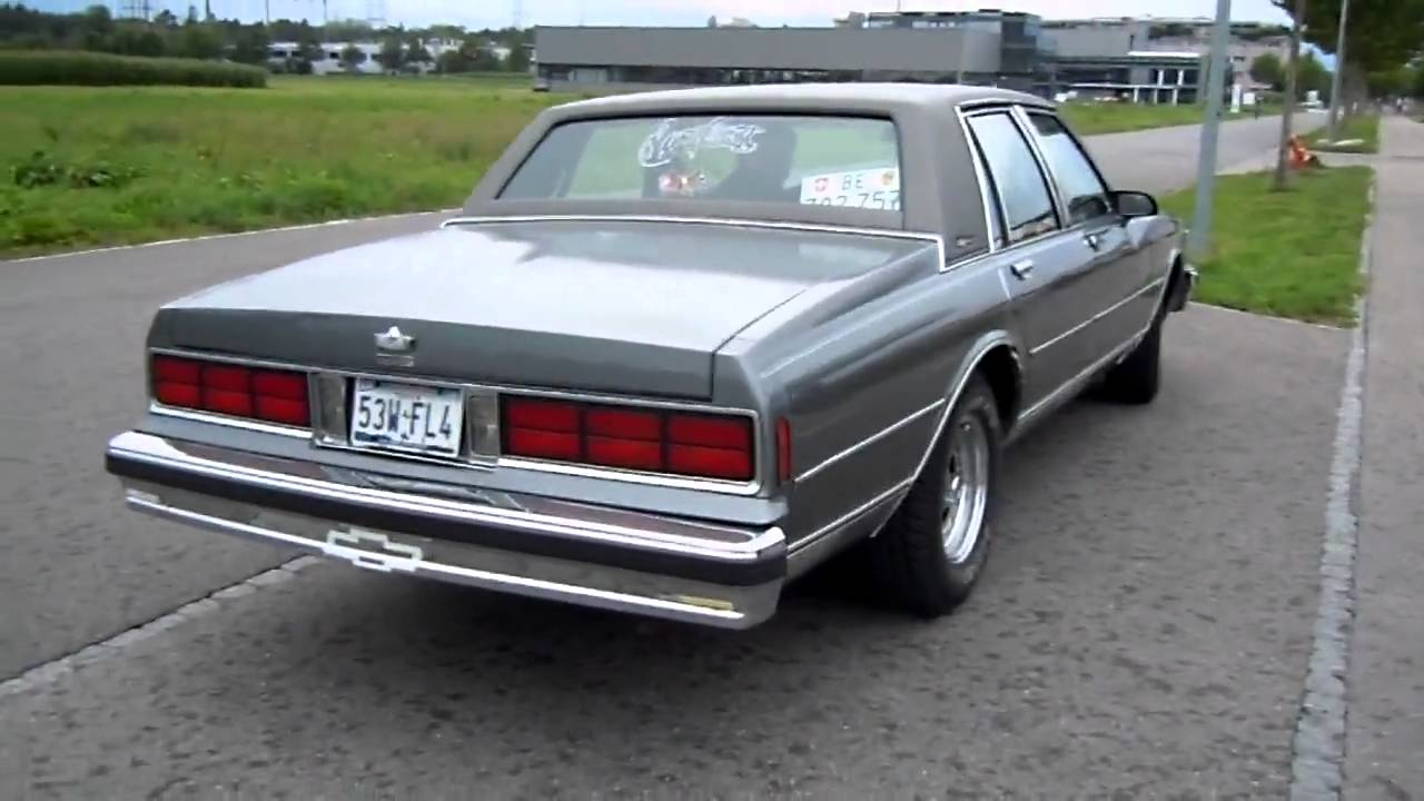 1988 Chevy Caprice Classic Custom Exhaust Engine Sound