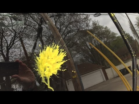 Man's car shot up by paintball gun at Milwaukee intersection