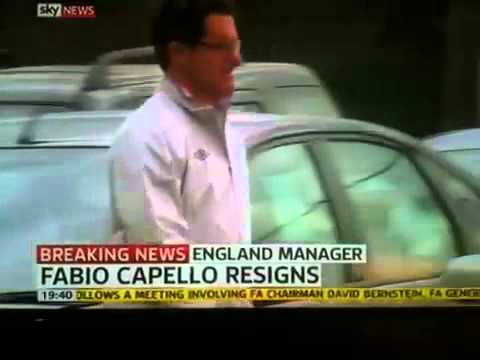 Fabio Capello Resigns as England Manager
