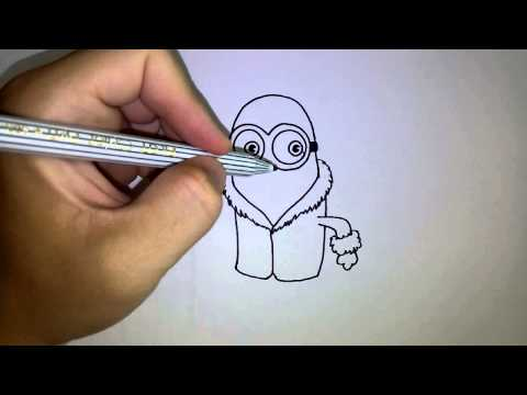 สอนวาดรูป การ์ตูน มินเนี่ยน Minions By วาดการ์ตูนกันเถอะ