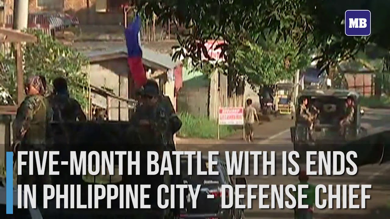 Five month battle with IS ends in Philippine city   Defense Chief