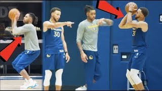 FIRST LOOK at The Golden State Warriors TRAINING CAMP 2019! Stephen Curry TEACHING D'Angelo Russell!