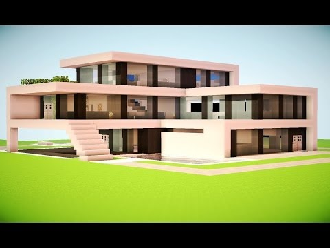 MINECRAFT: How To build A Modern House Best modern House 2013 2014 hd Tutorial