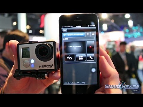CES 2014   GoPro Hero3+ Action Cam Demonstration   Black Edition Hero3 Plus   WiFi    Smart Review