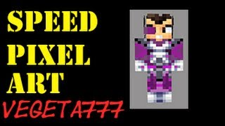 Minecraft Speed pixel art Vegetta777