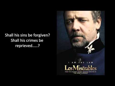 Les Miserables Javert's Suicide Russell Crowe Lyrics