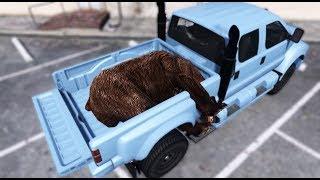 GTA 5 - Đi vào rừng bắt gấu chở về đồn cảnh sát | ND Gaming