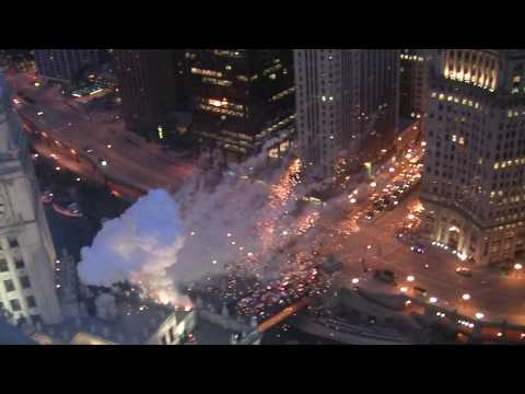 Best View -- Transformers 3 Chicago HUGE Explosions multiple buildings!