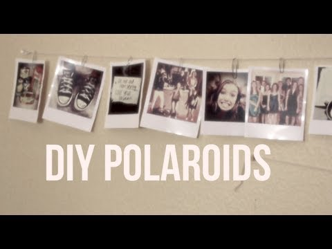 diy polaroid photos youtube. Black Bedroom Furniture Sets. Home Design Ideas