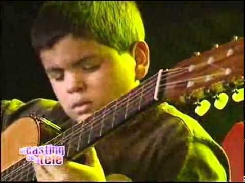 Con 11 años, tocó su guitarra como un grande   El casting de la tele 2008   El Trece Music Videos