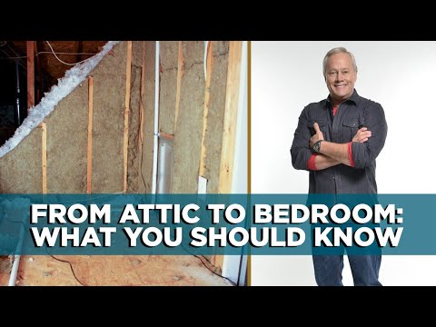 Today's Homeowner's Danny Lipford discusses the conversion of an attic to a bedroom.