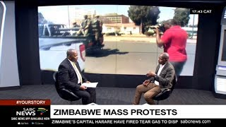 Zimbabwe's mass protests with Trust Ndlovu