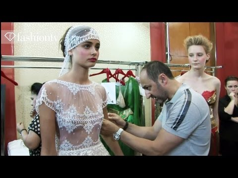 Dany Atrache Couture Fall winter 2012 13 - Backstage In Paris | Fashiontv video
