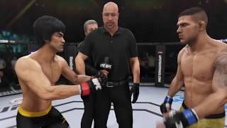 Bruce Lee vs. Rafael Dos Anjos (EA Sports UFC 3) - CPU vs. CPU