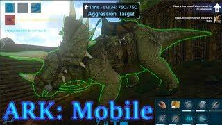 TRIKE TAMING ADVENTURE! SURVIVING A WHOLE EPISODE! Ark:Mobile Episode 6