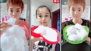 ice eating | white soft ice | soft crunches part 3