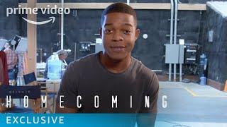 Homecoming Season 1 - Behind The Scenes: Stephan James Set Tour | Prime Video