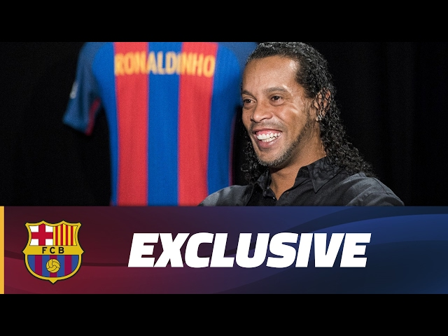 "Ronaldinho: ""It will be emotional to put the FC Barcelona shirt back on"""