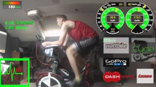 Graham Rands @ Cavve Cycle Training British Cycling Ramp Test On Wattbike Pro