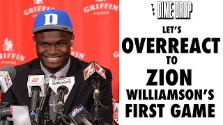Let's Overreact to Zion Williamson's First Game