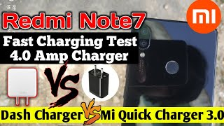 Redmi Note 7 Fast Charging Test With Dash Charger, Redmi Note 7 Fast Charging Test 4.0 Vs  3.0 Live