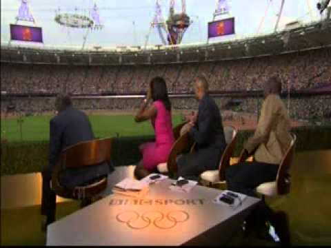 BBC Commentators, Denise Lewis & Colin Jackson's Reaction To Mo Farah's 5000m Gold !!!