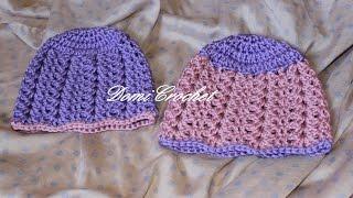 Detská zimná háčkovaná čiapka