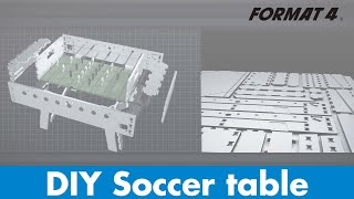 Build a wooden Foosball Table with a Format-4 CNC woodworking machine