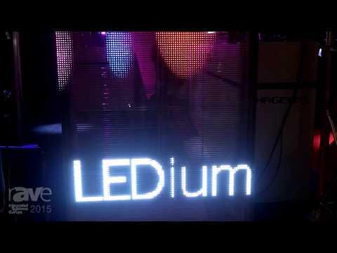 ISE 2015: B&K Braun Showcases LEDium G-10 Semi-Transparent LED Display