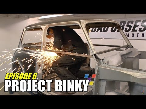 Bad Obsession Motorsport's mental project to shoehorn the entire running gear from a Toyota Celica GT-Four into a Mini without lengthening or widening it con...