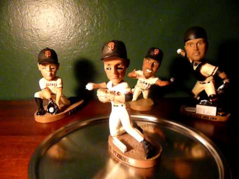 SF Giants Bobblehead Snow Vizquel Winn Molina Video