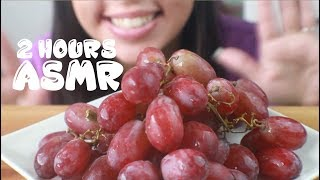 ASMR 2 HOURS Grapes Eating Show: Sounds for Relaxing Sleep, Insomnia, Meditation, Study