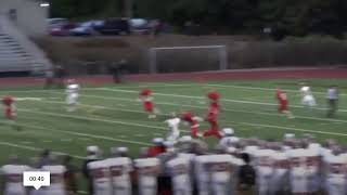 Cale Millen   Soph Year   Garbage Can throw up the sideline
