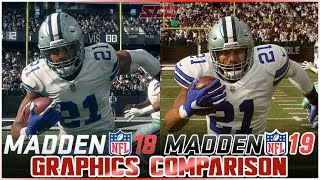 Madden 19 vs Madden 18 Graphics Comparison