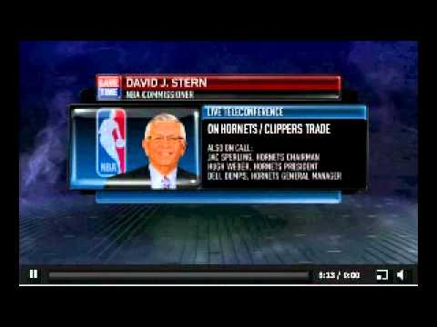 David Stern Q&A about Chris Paul's trade to the Clippers - Part 1