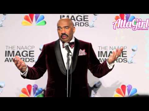 Steve Harvey Backstage at the NAACP Image Awards says he doesn't deserve his success!