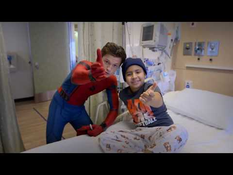 Tom Holland, Spider-Man: Homecoming, Visits Kids at Children's Hospital Los Angeles thumbnail
