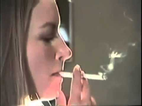 Smoking nose exhales  Beautyful girl smoking nose exhales