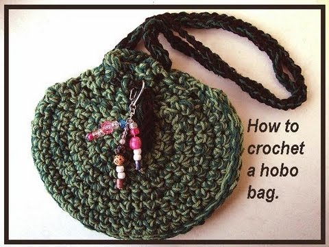 how to crochet a hobo bag purse - YouTube