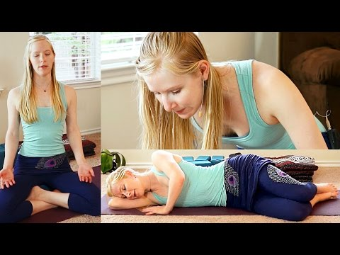 Beginners Yoga For Relaxation #1, Stress Relief, Flexibility & Pain Reliefm, Bedtime Sleep Routine