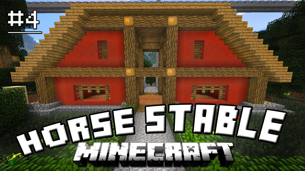 Minecraft Tutorial How To Make A Horse Stable And