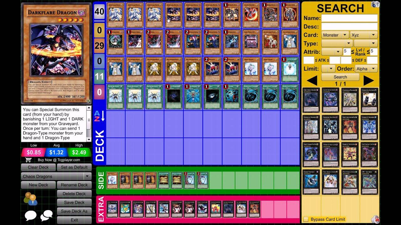 Yu-Gi-Oh! Chaos Dragon Deck March 2013 Format